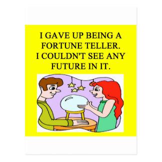 fortune teller postcard