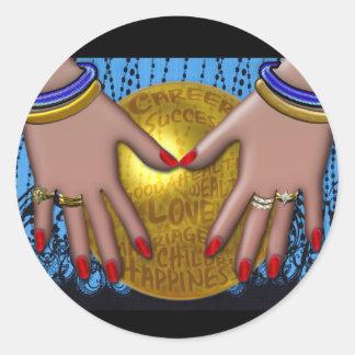 Fortune Teller (Round Stickers) Classic Round Sticker
