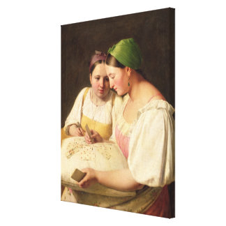 Fortune-Telling, 1842 Canvas Print