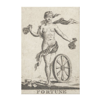 Fortune Telling Card, Antique Tarot Gallery Wrap Canvas