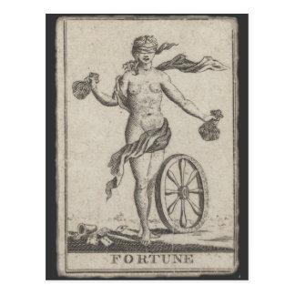 Fortune Telling Card, Antique Tarot Postcard