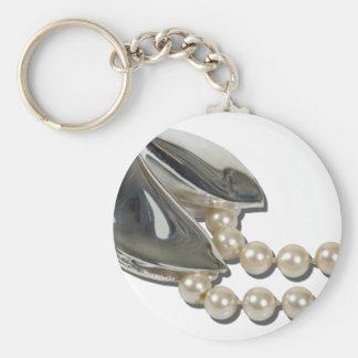 FortuneCookiePearls082111 Basic Round Button Keychain