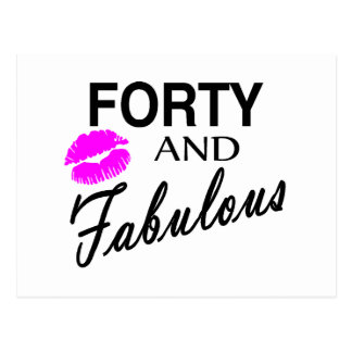 Forty And Fabulous Postcard