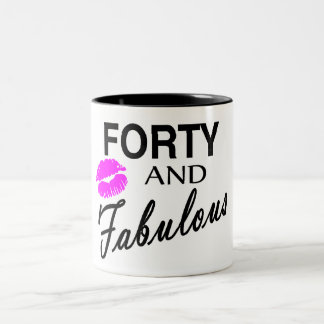 Forty And Fabulous Two-Tone Coffee Mug