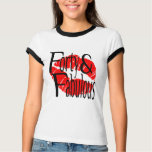 Forty and Fabulous with Hot Red Lips T-Shirt