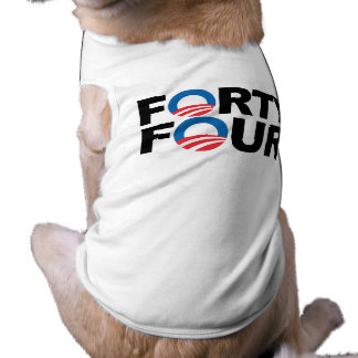 FORTY FOUR WIH OBAMA -.png Doggie T-shirt