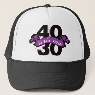 Forty Is The New Thirty - Purple Trucker Hat
