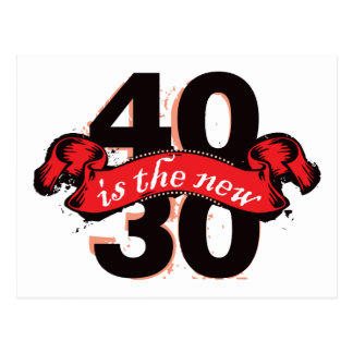 Forty Is The New Thirty - Red Postcard