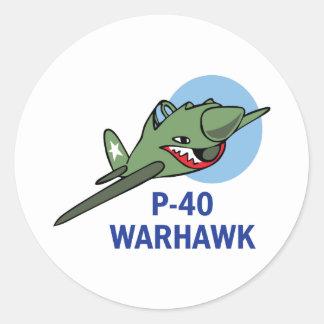 FORTY WARHAWK CLASSIC ROUND STICKER