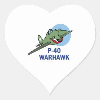 FORTY WARHAWK HEART STICKER