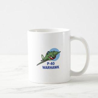 FORTY WARHAWK CLASSIC WHITE COFFEE MUG
