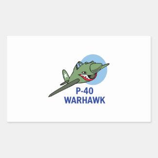 FORTY WARHAWK RECTANGULAR STICKER