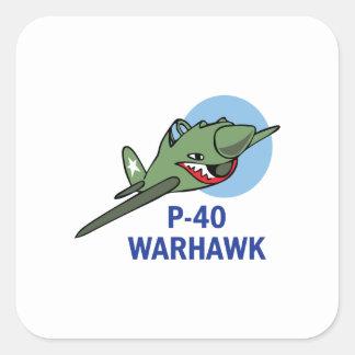 FORTY WARHAWK SQUARE STICKER
