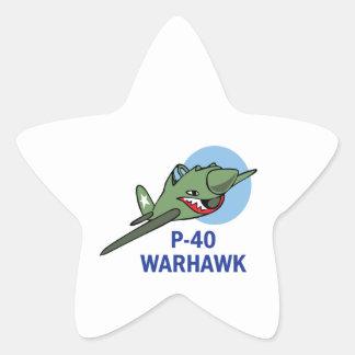 FORTY WARHAWK STAR STICKER
