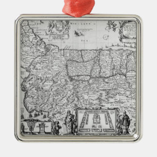 Forty Years Travels of the Children of Israel Square Metal Christmas Ornament