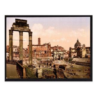 Forum Boario, Rome, Italy vintage Photochrom Postcard