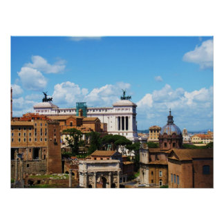 Forum panorama in Rome Poster