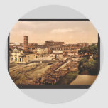 Forum Romanum from the Palatine, Rome, Italy vinta Round Sticker