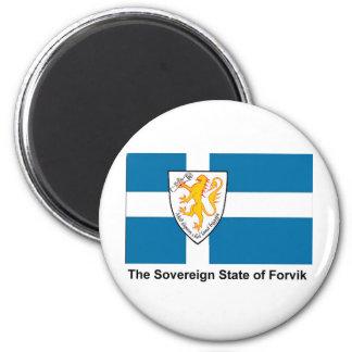 Forvik Flag Refrigerator Magnet