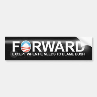 Forward 2012 - Anti Barack Obama Bumper Sticker