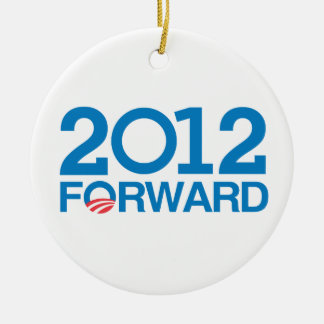 FORWARD 2012 -.png Double-Sided Ceramic Round Christmas Ornament