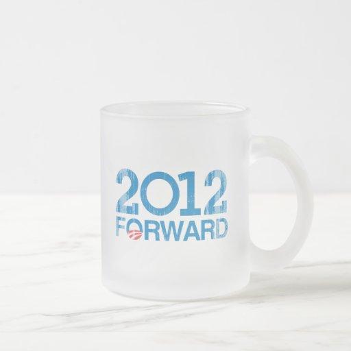 Forward 2012 Vintage 10 Oz Frosted Glass Coffee Mug