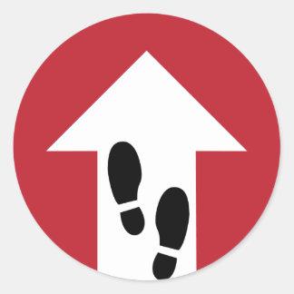 Forward Arrow with Footprints Directional Sticker