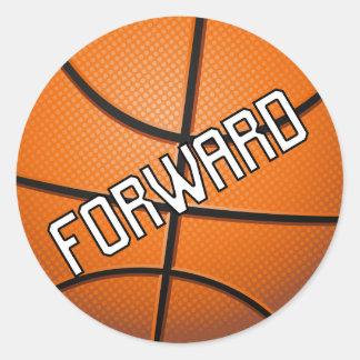 Forward Basketball Classic Round Sticker