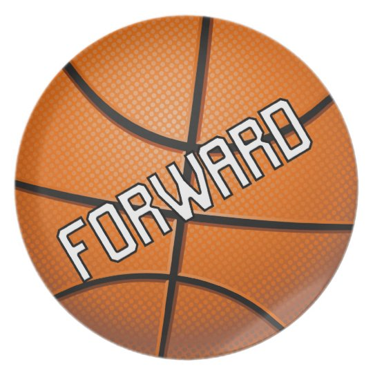 Forward Basketball Dinner Plate