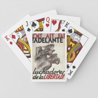 Forward fighters for liberty_Propaganda Poster Playing Cards
