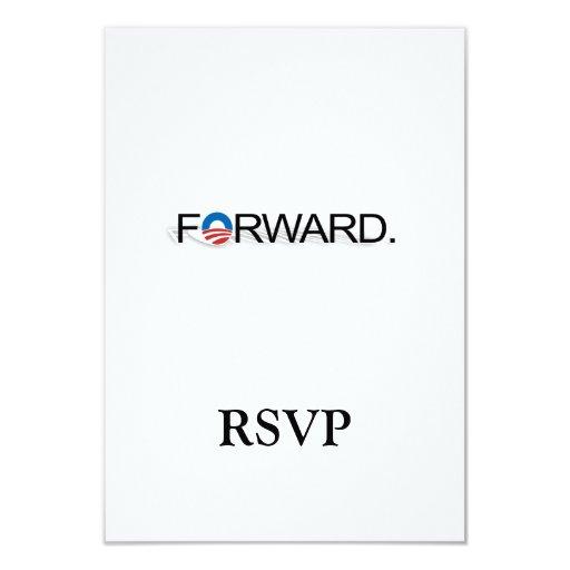 "Forward for Obama 2012 3.5"" X 5"" Invitation Card"