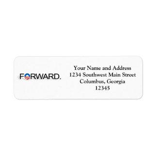 Forward for Obama 2012 Return Address Label