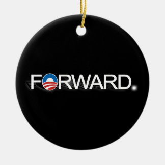 Forward for Obama 2012 Double-Sided Ceramic Round Christmas Ornament