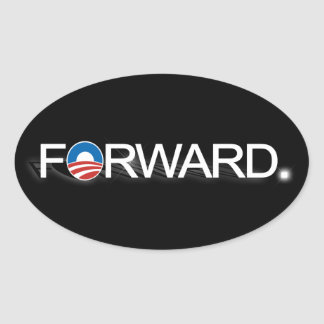 Forward for Obama 2012 Oval Sticker