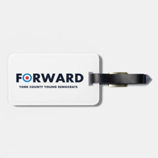 Forward Luggage Tag w/ leather strap