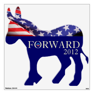 FORWARD Obama 2012 Democrat Wall Decal