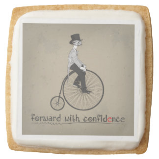 Forward with Confdence Square Shortbread Cookie