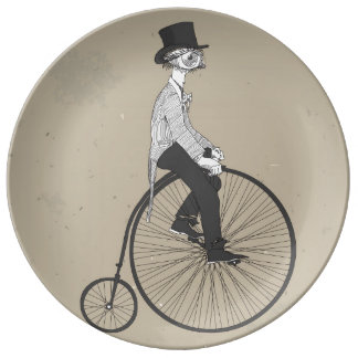 Forward With Confidence Vintage Bicycle Dinner Plate