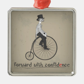 Forward With Confidence Vintage Bicycle Ornament
