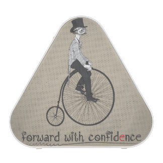 Forward With Confidence Vintage Bicycle Speaker