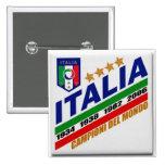 Forza Italia - mundial 2010 Pin Cuadrado