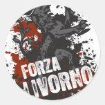 Forza Livorno Etiqueta Redonda