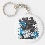 Forza Napoli Basic Round Button Keychain
