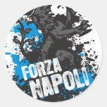 Forza Napoli Etiquetas Redondas