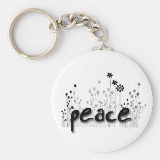 FOS de la paz Llavero Redondo Tipo Pin