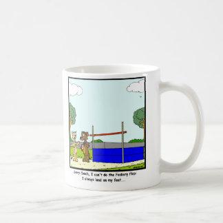 Fosbury Flop: Cat cartoon Coffee Mug