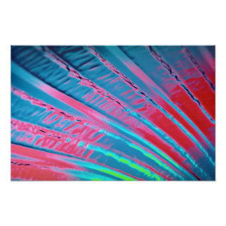 Fosforescencia que fluye colorida póster