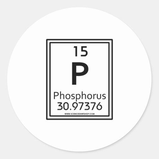 Fósforo 15 pegatina redonda