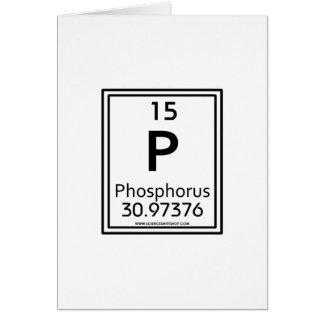 Fósforo 15 tarjeta