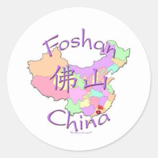 Foshan China Pegatina Redonda